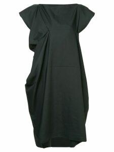 132 5. Issey Miyake draped dress - Black