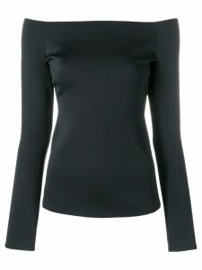 Theory off-the-shoulder blouse - Black