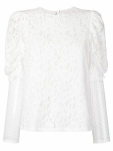 See By Chloé longsleeved lace blouse - White
