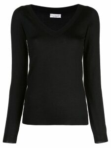 Brunello Cucinelli V-neck blouse - Black