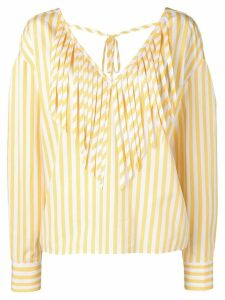 MSGM striped blouse - Yellow