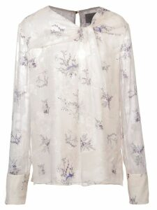 Jason Wu floral knot blouse - White