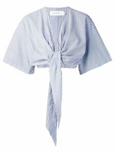 Marques'Almeida tie front blouse - Blue
