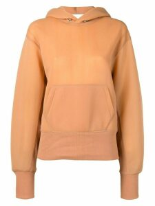 Helmut Lang monogram standard hoodie - NEUTRALS