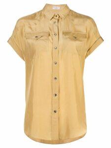 Brunello Cucinelli crepe shirt - Gold