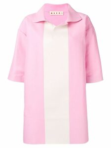 Marni oversized colour block shirt - PINK