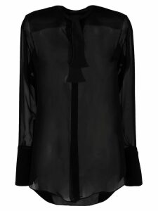 Neil Barrett see-through shirt - Black