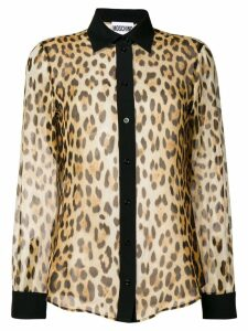 Moschino leopard print shirt - Brown