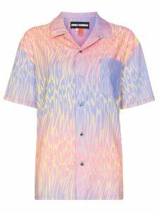 Double Rainbouu Hawaiian print cotton shirt - Pink