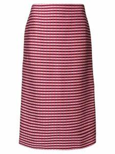 Marni checked pencil skirt - PINK