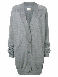 Maison Margiela buttoned V-neck cardigan - Grey