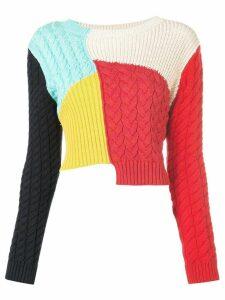 Alice+Olivia Lebell colour-block jumper - Multicolour