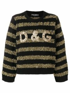 Dolce & Gabbana tinsel striped jumper - Black