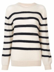 Khaite horizontal stripes jumper - White