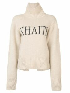 Khaite The Wallis Logo jumper - NEUTRALS