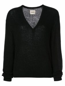 Khaite cashmere V-neck jumper - Black