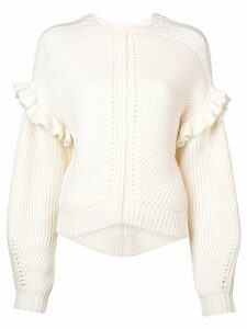 Jason Wu structured knit sweater - White