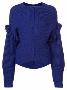 Jason Wu structured knit sweater - Blue