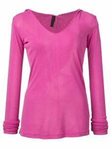 Unravel Project V-neck knit jumper - Pink