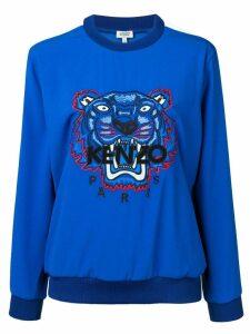 Kenzo Tiger panelled sweatshirt - Blue