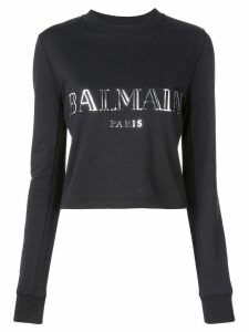 Balmain logo appliqué sweatshirt - Black