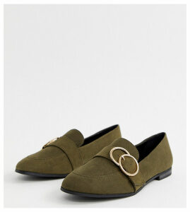 New Look double ring loafer in khaki-Green