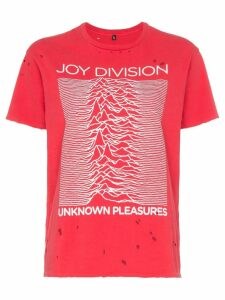 R13 joy division distressed cotton T-shirt - Red