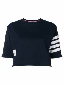 Thom Browne 4-Bar Boxy Cutoff Tee - Blue