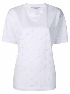 Stella McCartney logo perforated T-shirt - White