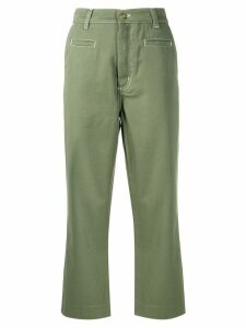 Loewe cropped trousers - Green