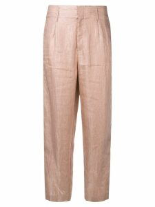 Forte Forte creased cropped trousers - PINK