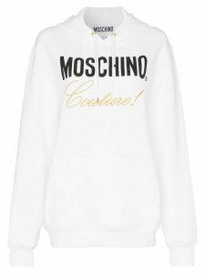 Moschino couture logo cotton hoodie - White