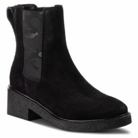 Tommy Hilfiger  Crepe Mid Heel  women's Low Ankle Boots in Black