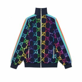 Technical jersey jacket with GG sequins