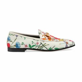 Gucci Jordaan Flora print canvas loafer