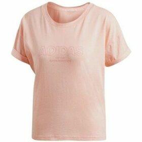 adidas  Ess Allcap Tee  women's T shirt in Pink