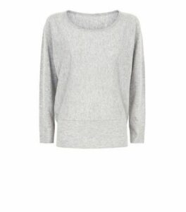 Apricot Grey Marl Studded Batwing Jumper New Look