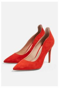 Womens **Wide Fit Sammy Red Court Shoes - Red, Red