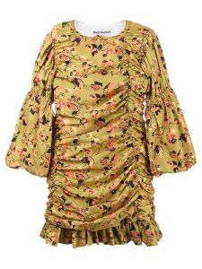 Molly Goddard Judy floral print gathered mini dress - Yellow