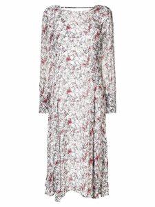 IRO patterned long-sleeved blouse - White
