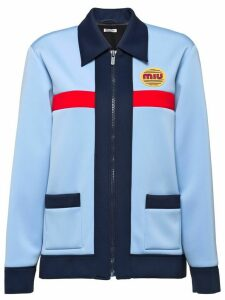 Miu Miu Techno jersey jacket - Blue