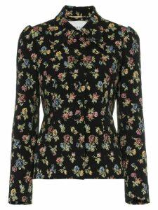 Erdem floral jacquard blazer - Black