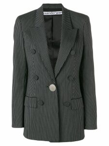 Alexander Wang striped double-breasted blazer - Black