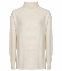 Reiss Naomi - Roll Neck Jumper in White, Womens, Size XXL