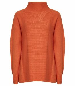 Reiss Naomi - Roll Neck Jumper in Paprika, Womens, Size XXL