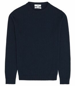 Reiss Churchill - Cashmere Jumper in Navy, Mens, Size XXL