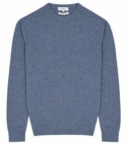 Reiss Churchill - Cashmere Jumper in Airforce Blue, Mens, Size XXL