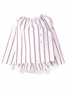 Calvin Klein 205W39nyc striped flared blouse - White