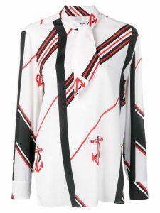 MSGM anchor print blouse - White