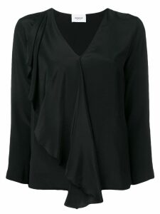 Dondup ruffle trim blouse - Black